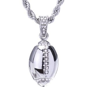 Football Iced Out Necklace